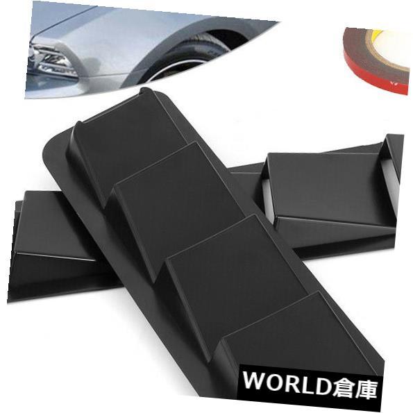USフードベントトリム 2本ユニバーサルカーボンネットフードベントルーバー冷却パネルトリムマットブラックABS 2Pcs Universal Car Bonnet Hood Vent Louver Cooling Panel Trim Matte Black ABS