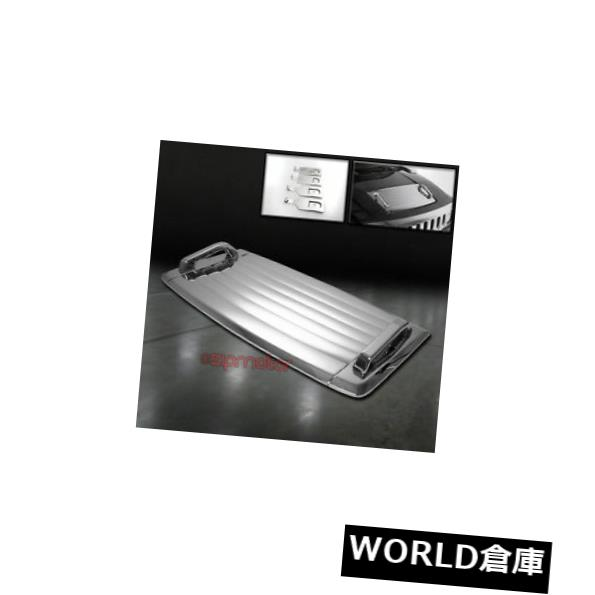 USフードベントトリム 06-10ハマーH3フードデッキベントパネルハンドルカバートリムモールディングABSクローム3PCS 06-10 HUMMER H3 HOOD DECK VENT PANEL HANDLE COVERS TRIM MOULDING ABS CHROME 3PCS