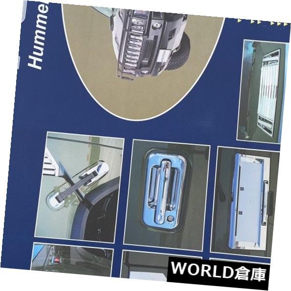 USフードベントトリム PUTCO 2003-2009ハマーH2フードデッキベンチパネルハンドルカバートリムクローム5PCS PUTCO 2003-2009 HUMMER H2 HOOD DECK VENT PANEL HANDLE COVERS TRIM CHROME 5PCS