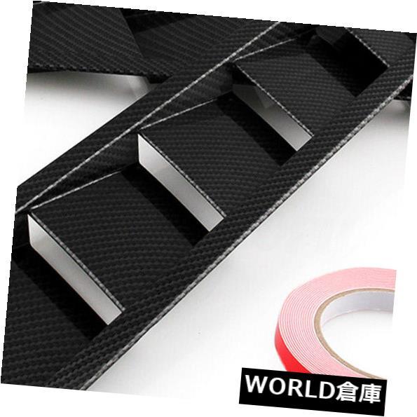 USフードベントトリム 2本ユニバーサルカーボンファイバールックスタイルフードベントルーバー冷却パネルトリム 2pcs Universal Carbon Fiber Look Style Hood Vent Louver Cooling Panel Trim