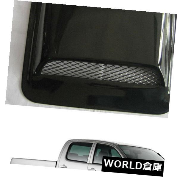 USフードベントトリム トヨタハイラックスビーゴ2005 10用フロントボンネットフードスクープベントカバーV1トリムブラック Front Bonnet Hood Scoop Vent Cover V1 Trim Black For Toyota Hilux Vigo 2005 10
