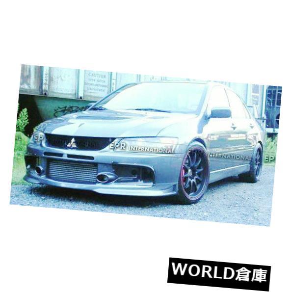 USフードベントトリム 三菱EVO 9 Varisスタイルカーボンファイバーフロントエアダクトバンパーベントトリム用 For Mitsubishi EVO 9 Varistyle Carbon Fiber Front Air Duct Bumper Vents Trim