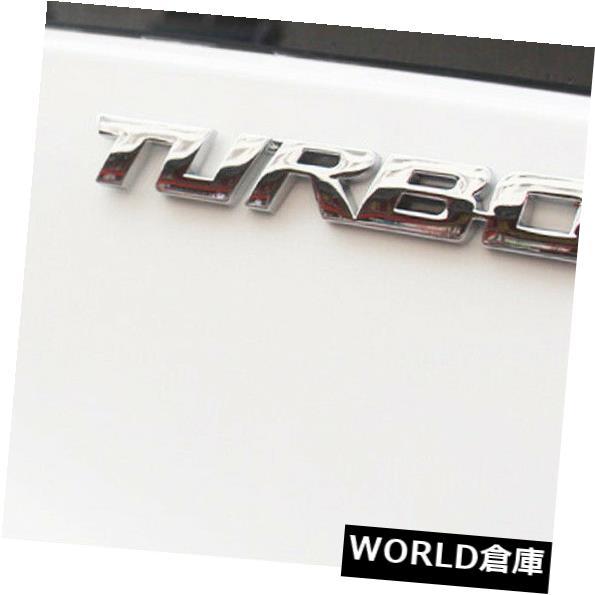USフードベントトリム 3Dクロームメタルターボパターンカーデカールエンブレムバッジテールゲートリアドアステッカー 3D Chrome Metal Turbo Pattern Car Decal Emblem Badge Tailgate Rear Door Sticker