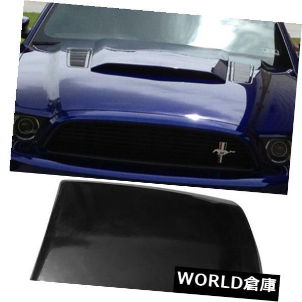 USフードベントトリム 13-14フォードマスタング2Dr V6 GTボスエアフードベントスクープ未塗装ブラックPU用 For 13-14 Ford Mustang 2Dr V6 GT Boss Air Hood Vent Scoop Unpainted Black PU