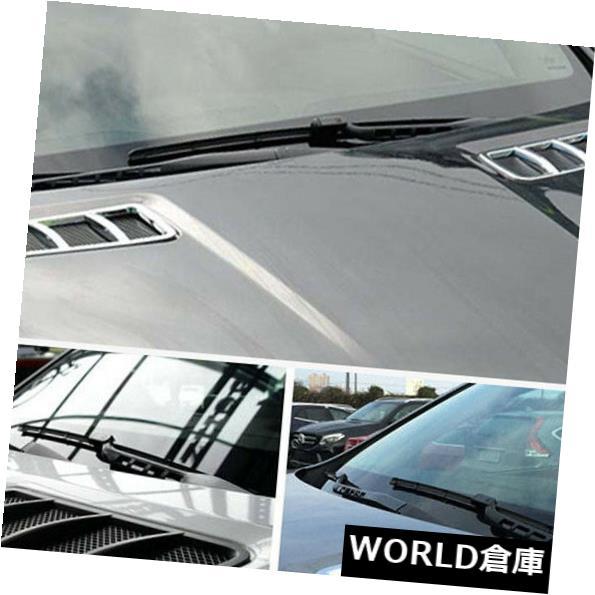 USフードベントトリム メルセデス・ベンツMLクラスW166 2011-16用クロームフードエアーベントカバートリム2本 Chrome Hoods Air Vent Cover Trim 2pcs For Mercedes-Benz ML-Class W166 2011-16