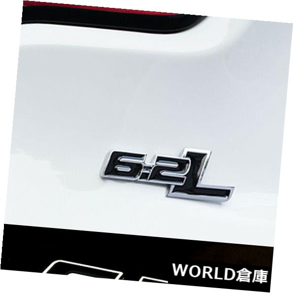 USフードベントトリム 6.2 Lメタルブラックパターンカーデカールエンブレムバッジテールゲートリア粘着ステッカー 6.2 L Metal Black Pattern Car Decal Emblem Badge Tailgate Rear Adhesive Sticker