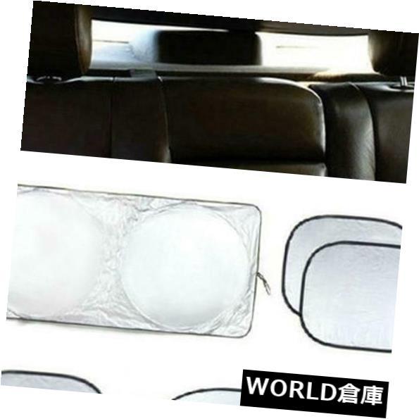 USサンバイザー 6本の車の窓の日よけの折り畳み式風防フルシールドバイザーブロックカバーUS 6pcs Car Window Sun Shade Foldable Windshield Full Shield Visor Block Cover US