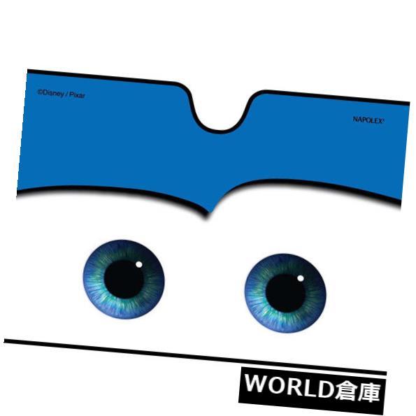 USサンバイザー ブルー折りたたみビッグアイ漫画車のフロント自動フロントガラスサンシェードバイザーカバー Blue Foldable Big Eye Cartoon Car Front Auto Windshield Sun Shade Visor Cover