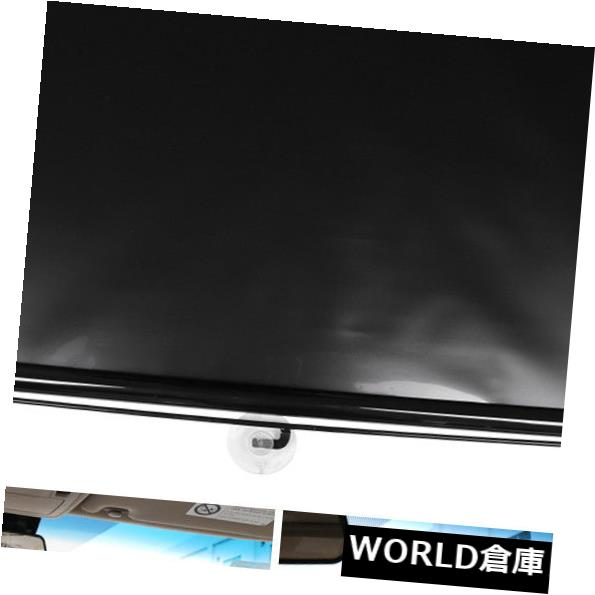 USサンバイザー 23.6 x 15.7インチ車のブラックフロントウィンドウ格納式サンシェードガードプロテクター 23.6 x 15.7inch Car Black Front Window Retractable Sun Shade Guard Protector