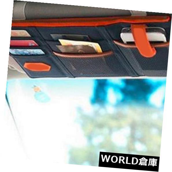 USサンバイザー 車のサンバイザーポケットオーガナイザーポーチバッグカードペンメガネ収納ホルダーベージュ Car Sun Visor Pocket Organizer Pouch Bag Card Pen Glasses Storage Holder Beige