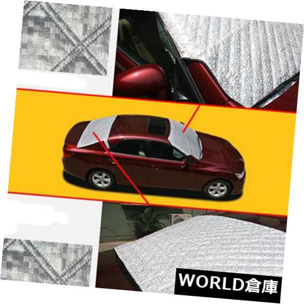 USサンバイザー シルバーカーオートフロント/リアウインドシールドカバースノーアイスプロテクターサンバイザーシールド Silver Car Auto Fornt/Rear Windshield Cover Snow Ice Protector Sun Visors Shield