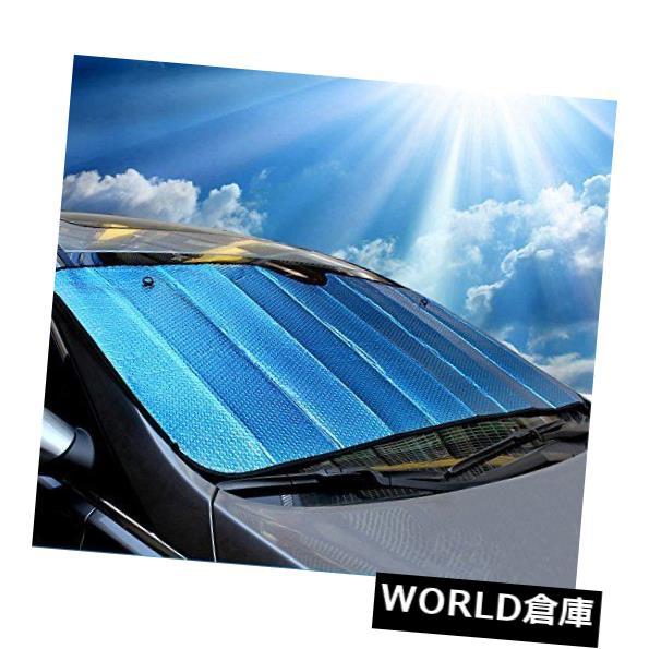 USサンバイザー ウェルコカーサンシェードフロントガラスブルー Wellco Car Sunshade Windshield Blue