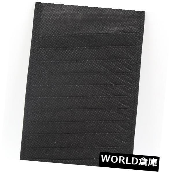 USサンバイザー 黒い長方形の形の自動車のCD DVDサンバイザーカードケース収納ホルダー Black Rectangle Shaped Auto Car CD DVD Sun Visor Card Case Storage Holder
