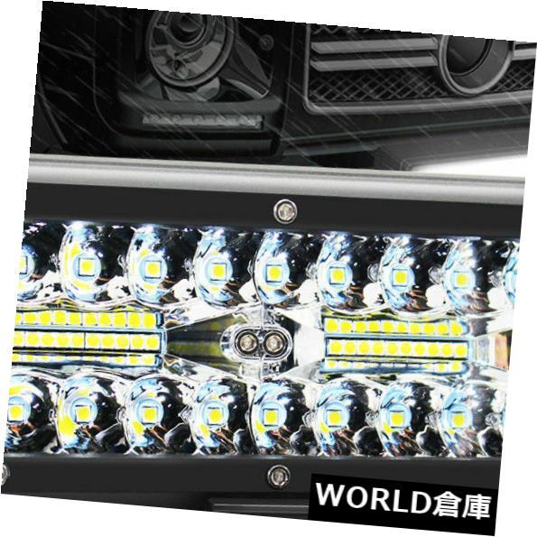 LEDライトバー 7インチ400W LEDワークライトバーフラッドスポットビームオフロード4WD SUVドライビングフォグランプ 7 inch 400W LED Work Light Bar Flood Spot Beam Offroad 4WD SUV Driving Fog Light