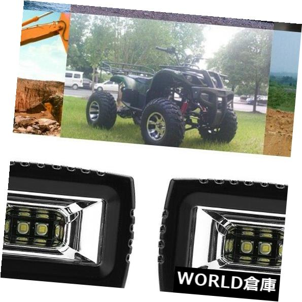 LEDライトバー ATV UTV SUVトラックボート用道路霧ランプオフ2本20W洪水LEDライトバー 2pcs 20W Flood LED Light Bar Off Road Fog Lamp for ATV UTV SUV Truck Boat