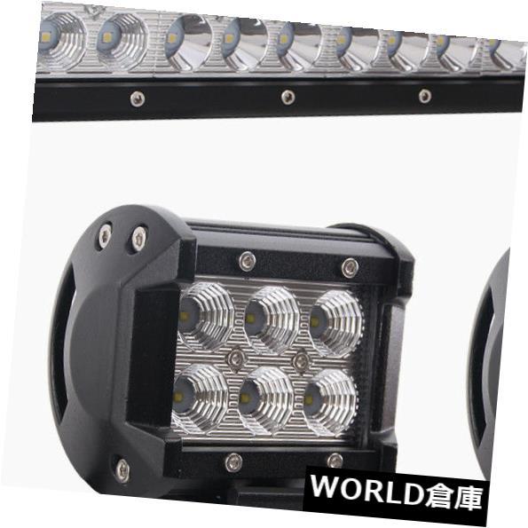 LEDライトバー 20 '126WクリーLEDワークライトバーオフロードボートランプスポットフラッドコンボ+ 2X 4
