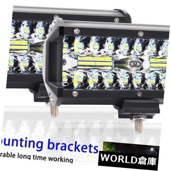 LEDライトバー 2X 120W LEDオフロードワークライトバーコンボサイドビームドライビングフラッドスポットランプSUV 2X 120W LED Offroad Work Light Bar Combo Side Beam Driving Flood Spot Lamp SUV