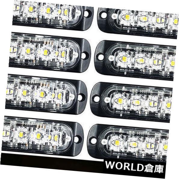 LEDライトバー 10×6 LED White18点滅モード車の警告注意緊急ストロボライトバー 10x 6 LED White18 Flashing Mode Car Warning Caution Emergency Strobe Light Bar