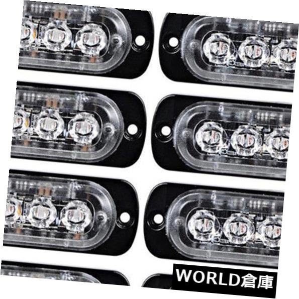 LEDライトバー 10個6 LED緊急ハザード警告フラッシュストロボライトバー 10PCS 6 LED Emergency Hazard Warning Flash Strobe Light Bar