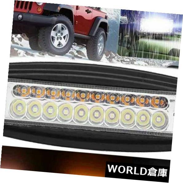 LEDライトバー 7インチ100ワットLEDワーキングライトバーフラッシュマウントフォグランプSUV車オフロードデュアルカラー 7inch 100W LED Working Light Bar Flush Mount Fog Lamp SUV Car Offroad Dual-Color