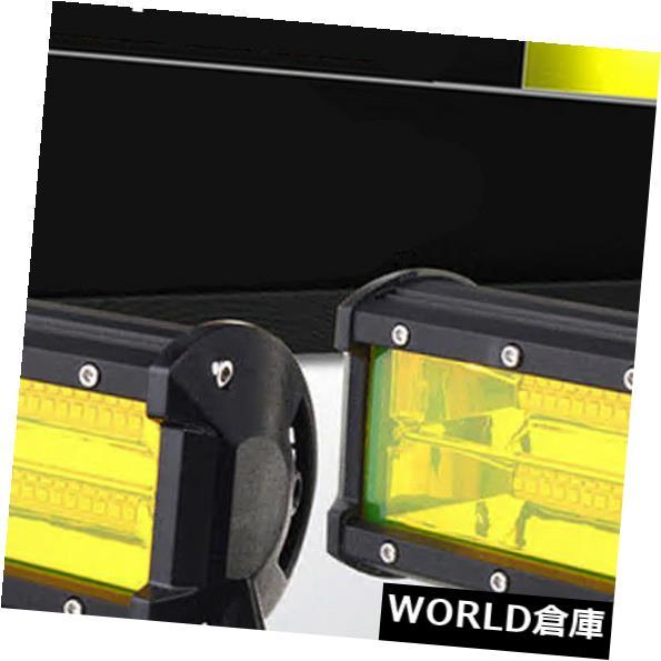 LEDライトバー 2 5インチ96W黄色LED作業ライトバー洪水運転霧ランプオフロードトラックSUV 2 5inch 96W Yellow LED Work Light Bar Flood Driving Fog Lamp Offroad Truck SUV