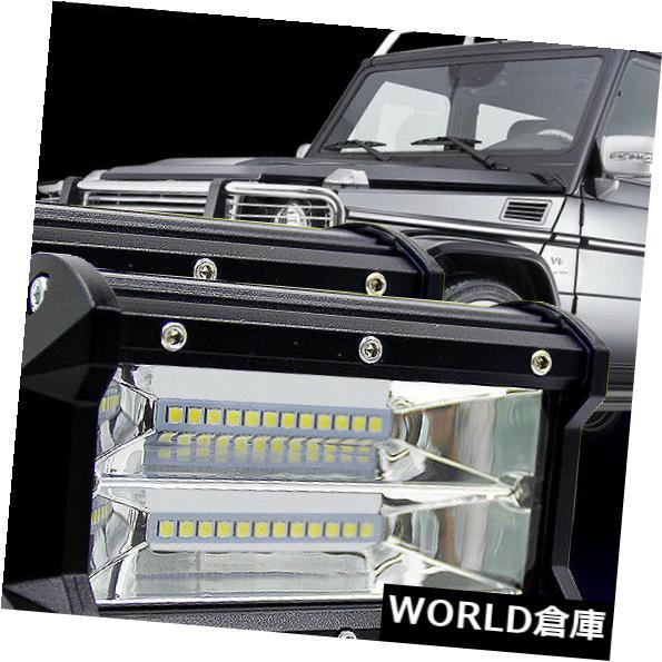 LEDライトバー 5インチ72W LEDワークライトバーフラッドスポットオフロード4WD SUV ATV車ランプ6000K 5INCH 72W LED WORK LIGHT BAR Flood Spot OFFROAD 4WD SUV ATV CAR LAMP 6000K