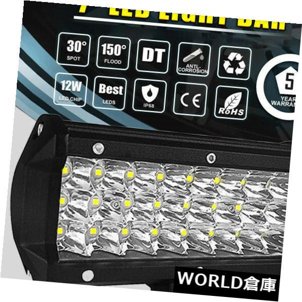 LEDライトバー 7 '' 360W LEDライトバースポット洪水コンボビームトライローSUV 4WDドライブオフロードホット 7'' 360W LED LIGHT BAR SPOT FLOOD COMBO BEAM TRI ROW SUV 4WD DRIVING OFFROAD HOT
