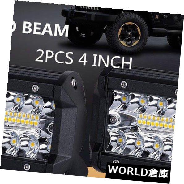 LEDライトバー 2ピース4インチ60ワットled作業ライトバーコンボビームオフロード4ワット4×4ドライビングランプ5000 k 2pcs 4inch 60W LED Work Light Bar Combo Beam Offroad 4WD 4X4 Driving Lamp 5000K