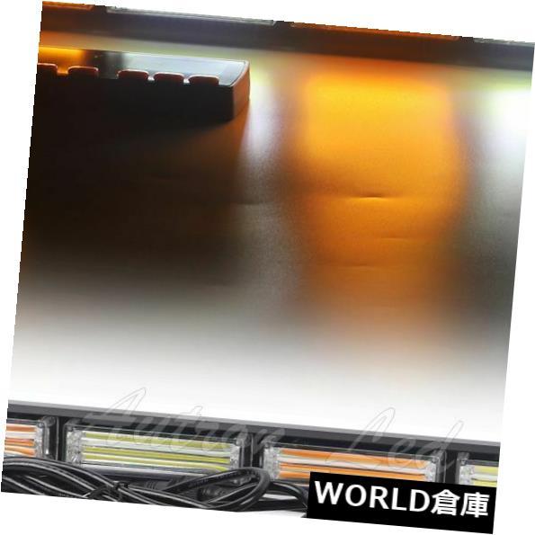 LEDライトバー 18インチの交通顧問のこはく色の白い穂軸LED緊急警報保証ライトバー 18 Inch Traffic Advisor Amber White COB LED Emergency Warning Security Light Bar