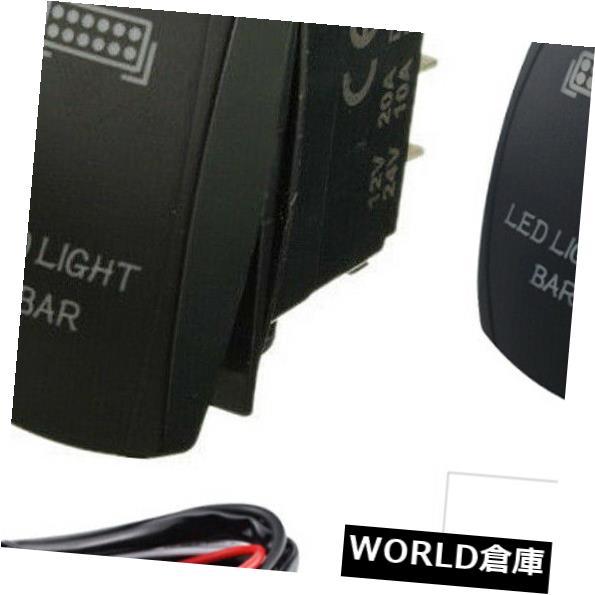 LEDライトバー ライトバーオン/オフ霧スポットレーザーロッカースイッチ+ 40Aリレー配線ハーネスLED IP65 Light Bar On/Off Fog Spot Laser Rocker Switch+ 40A Relay Wiring Harness LED IP65