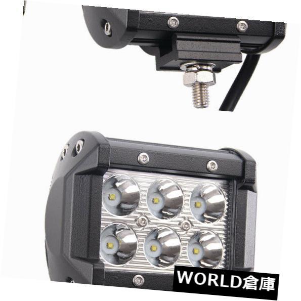 LEDライトバー 6×4インチ18ワットクリーledワークライトバー4ワットオフロードスポットビーム運転suvフォグランプ 6X 4inch 18W CREE LED Work Light Bar 4WD Offroad SPOT Beam Driving SUV Fog Lamp