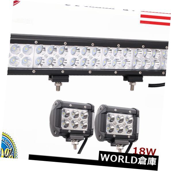 LEDライトバー ATVトラクターオフロード用17インチ108WコンボLEDワークライトバー+ 2X 18W 4