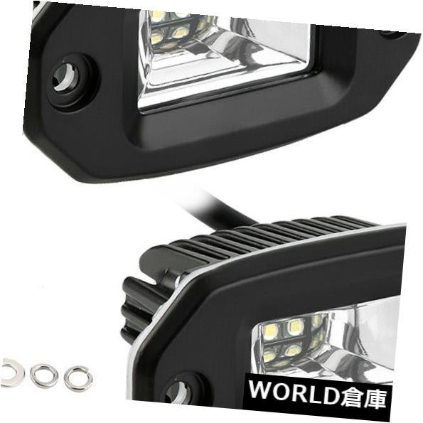 LEDライトバー ATV UTVのジープトラックのための道のバックアップ運転ランプを離れた2pcs 20Wの洪水LEDのライトバー 2pcs 20W Flood LED Light Bar Off Road Backup Driving Lamp for ATV UTV Jeep Truck