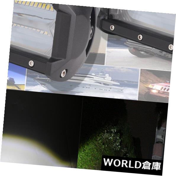 LEDライトバー SUVジープ4WDのための1ペアホワイト72W 4D LEDワークライトバースポットビームオフロードライト 1 Pair White 72W 4D LED Work Light Bar Spot Beam Off-road light for SUV JEEP 4WD