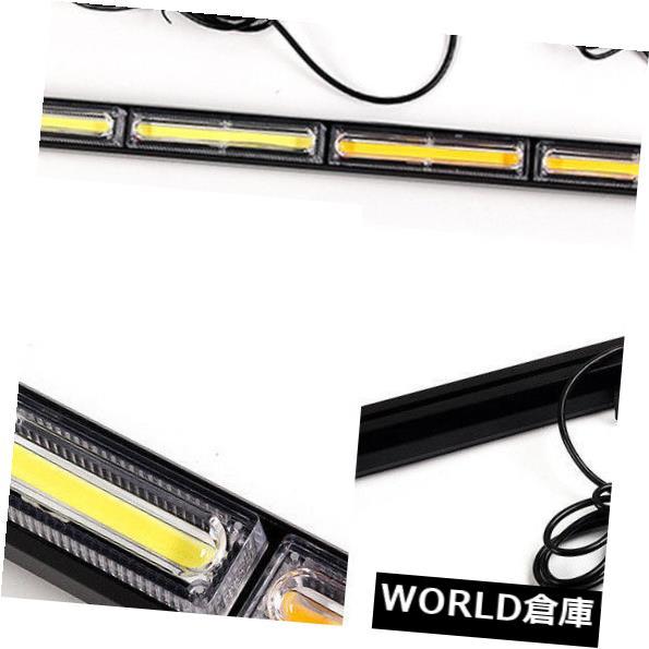LEDライトバー 108W穂軸LED琥珀色のストロボTrafficAdvisorの非常灯の警告灯のON / OFF 108W COB LED Amber Strobe TrafficAdvisor Emergency Light Bar Warning Lamp ON/OFF