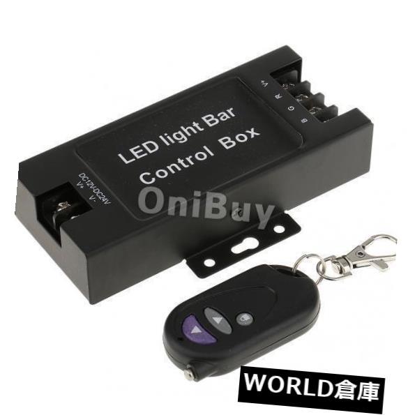 LEDライトバー 5x 12-24V LEDライトバーバッテリーボックスフラッシュストロボコントローラー+ワイヤレスリモコン 5x 12-24V LED Light Bar Battery Box Flash Strobe Controller + Wireless Remote