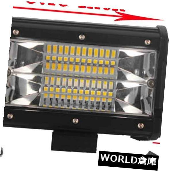 LEDライトバー 5インチ72W LEDワークライトバーフラッドビームドライビングランプジープトラックオフロードSUV 5Inch 72W LED Work Light Bar Flood Beam Driving Lamp Jeep Truck Offroad SUV