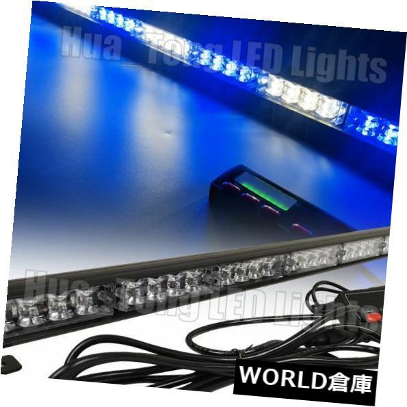 LEDライトバー 35in 32W LED警告交通顧問フラッシュレッカー車ストロボライトバーブルーホワイト 35in 32W LED Warning Traffic Advisor Flash Tow Truck Strobe Light Bar Blue White