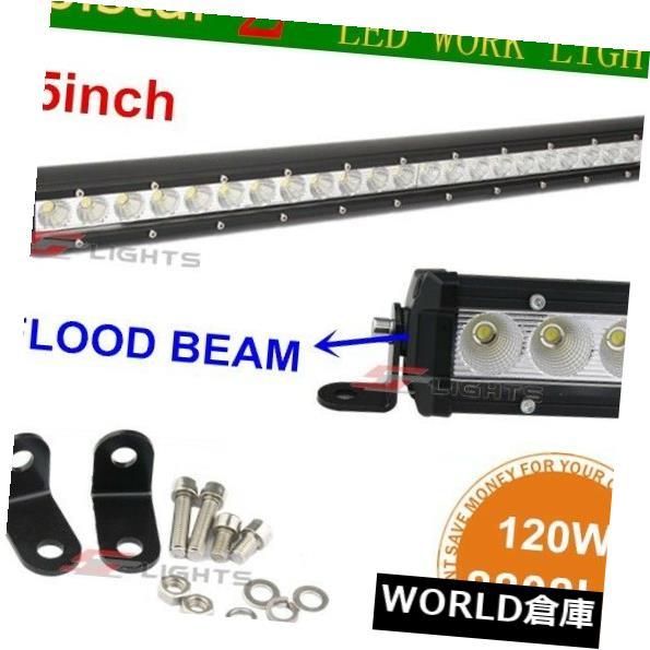 LEDライトバー 細い単一行25インチ120W LEDライトバートラック4WDボートUTEドライビングフラッドランプ Slim Single Row 25inch 120W LED Light bar Truck 4WD Boat UTE Driving Flood Lamp
