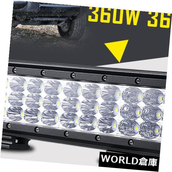 LEDライトバー 1ピース12インチ360ワット36×led作業ライトバー洪水スポットコンボ車トラックSUVトライ行 1pc 12