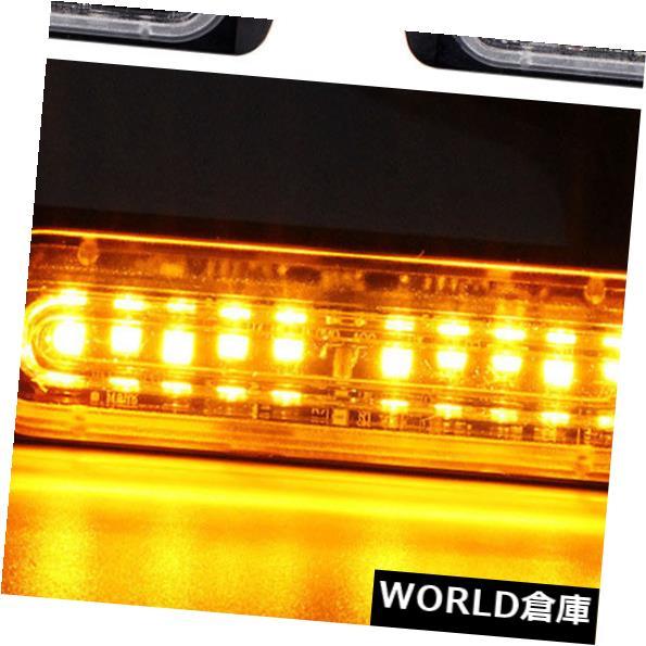 LEDライトバー こはく色の軽い緊急の警告のストロボの点滅車のトラックバーの危険のグリル10LED Amber Light Emergency Warning Strobe Flashing Car Truck Bar Hazard Grill 10LED