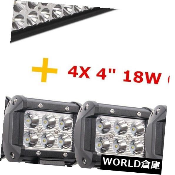 LEDライトバー 22インチ120W LEDフラッド/スポットライトバー4WDジープオフロード12V24V + 4インチ18Wポッドランプ 22inch 120W LED Flood/Spot Light Bar 4WD Jeep Offroad 12V24V+4inch 18W Pods Lamp
