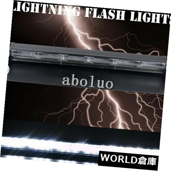 LEDライトバー 危険明るい18 LEDストロボライトバークリア緊急警告フラッシュライトホワイト  Hazard bright 18 LED Strobe Light Bar Clear Emergency Warning Flash light white