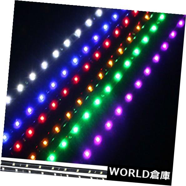 LEDライトバー 10個30cm LED車内装飾ライトバーフットウェルシート内雰囲気ランプ 10pcs 30cm LED Car Interior Decor Light Bar Footwell Seat Inside Atmosphere Lamp