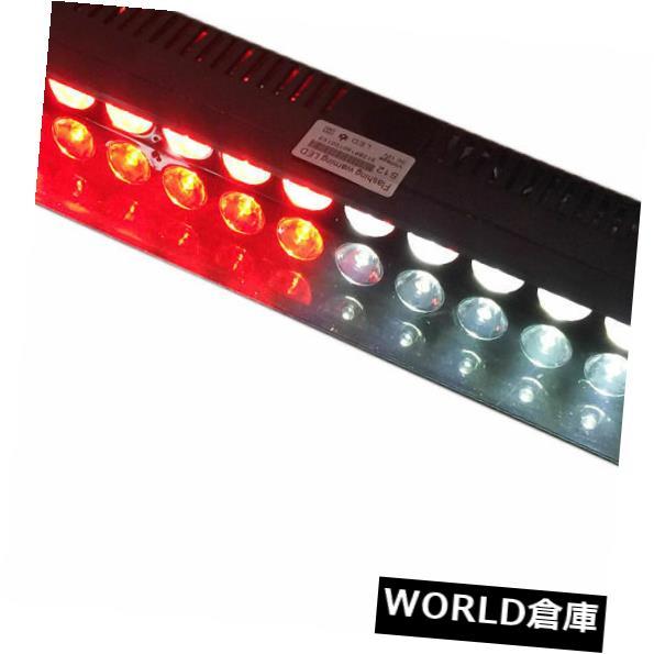 LEDライトバー 12LED緊急ハザード警告バイザーダッシュフラッシュストロボライトバーレッドホワイト 12LED Emergency Hazard Warning Visor Dash Flash Strobe Light Bar Red White