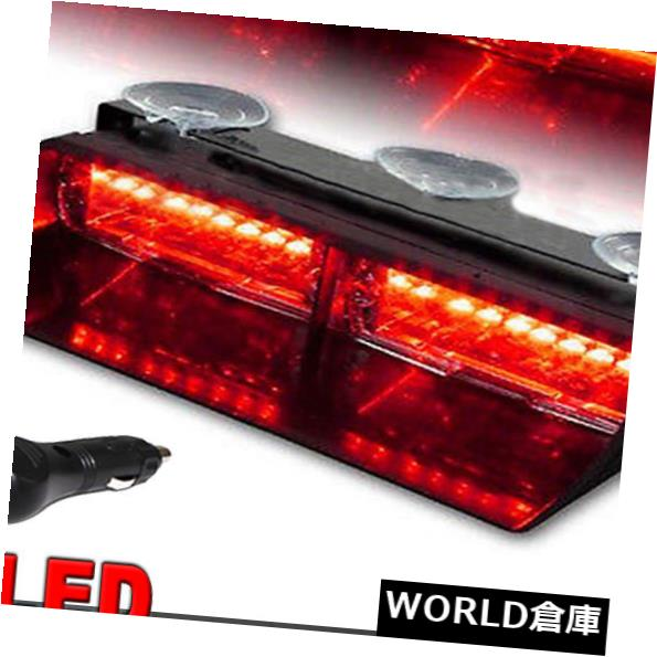 LEDライトバー 16のLEDの赤い警告灯車のストロボのダッシュのバイザーの点滅の非常灯18W 16 LED Red Warning Lamp Car Strobe Dash Visor Flashing Emergency Light Bar 18W