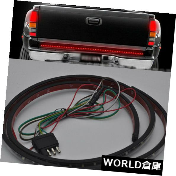 LEDライトバー 白いトランクテールゲート赤いLEDライトバーリバースブレーキターンシグナルテールピックアップ White Trunk Tailgate Red LED Light Bar Reverse Brake Turn Signal Tail Pickup