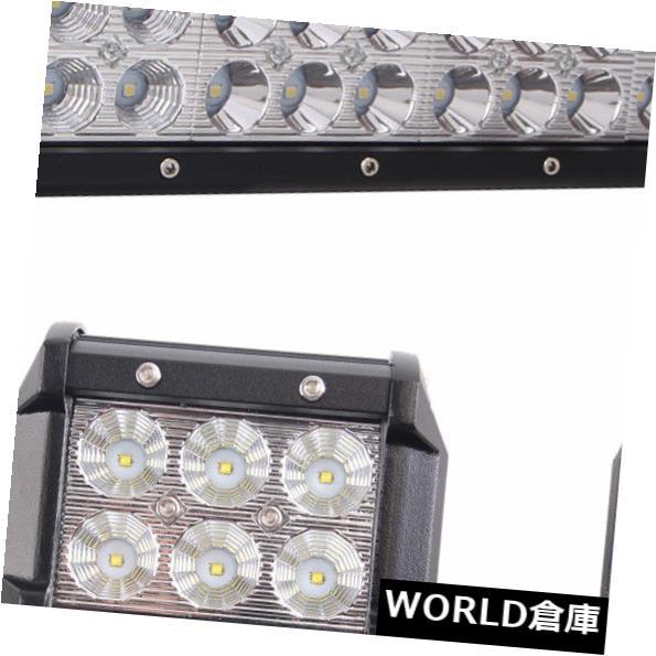 LEDライトバー 20インチ126WスポットフラッドLEDワークライトバー+ 2X 4 '' 18Wフラッドドライビングトラックランプ 20inch 126W SPOT FLOOD LED Work Light Bar+2X 4'' 18W FLOOD Driving Truck Lamp US