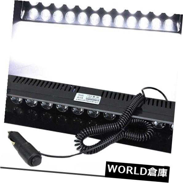 LEDライトバー 12 LEDホワイト緊急ハザード警告バイザーダッシュ12Wフラッシュストロボライトバーランプ 12 LED White Emergency Hazard Warning Visor Dash 12W Flash Strobe Light Bar Lamp
