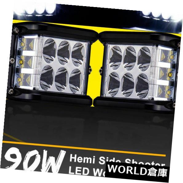 LEDライトバー 作業キューブサイドシューターLEDライトバースポットフラッドドライビングフォグポッド4 '90Wクリー1PC Work Cube Side Shooter LED Light Bar Spot Flood Driving Fog Pod 4'' 90W CREE 1PC